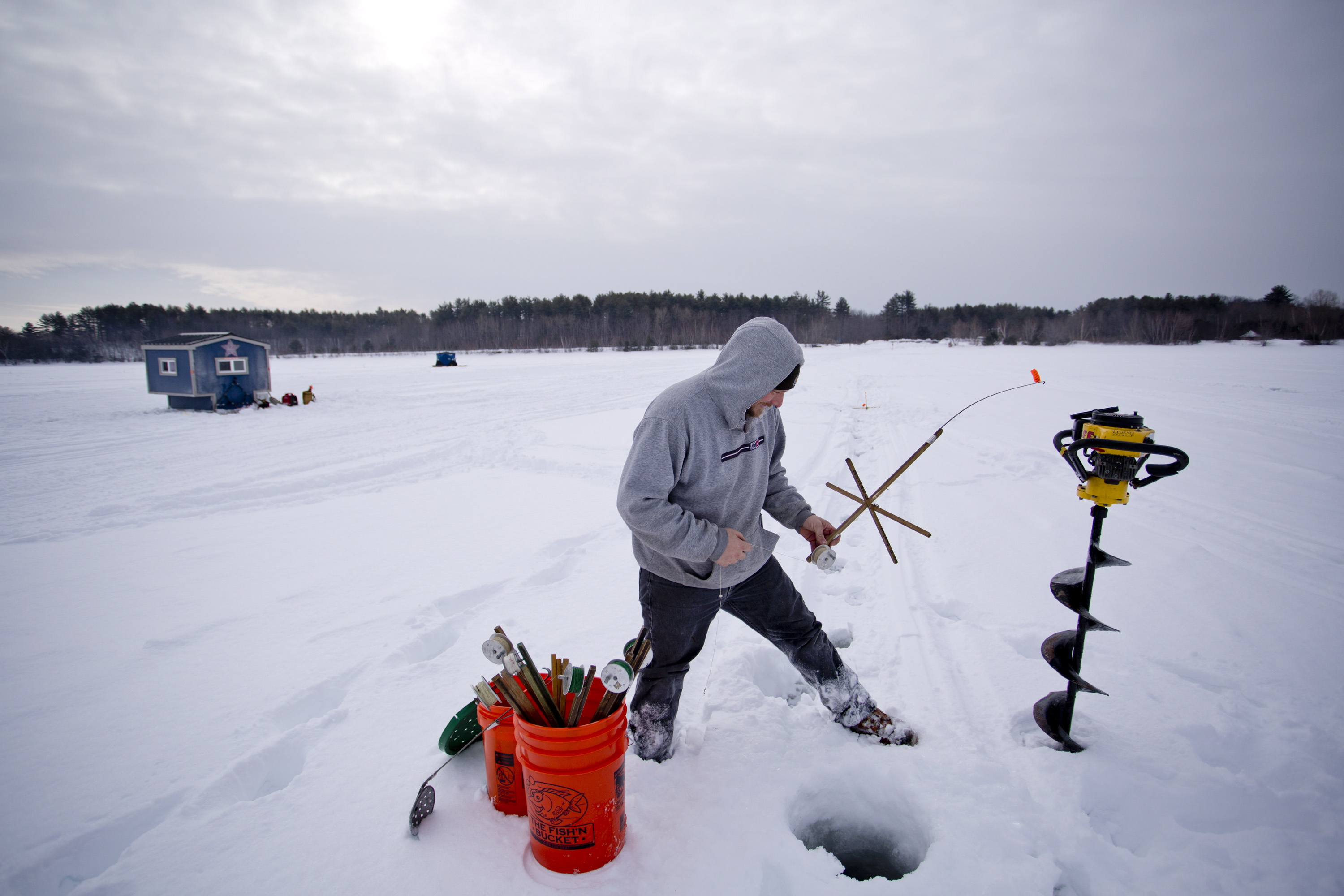 Fishing derby the portland press herald maine sunday for Ice fishing derby