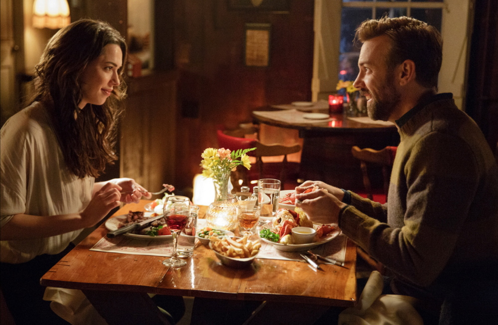 "Rebecca Hall and Jason Sudeikis in a scene from ""Tumbledown."""