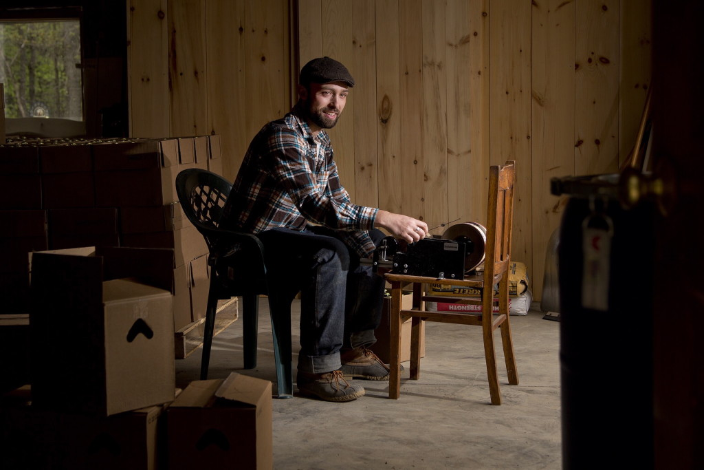 "Monday marks the formal arrival in Maine of the Legal Services Food Hub, which provides free attorney services to farmers and food producers who need them – and there are plenty. One person who has already used the service is Noah Fralich, owner of Norumbega Cidery in New Gloucester. Getting help with trademarking his product gave him ""one less thing to worry about,"" Fralich said. Gabe Souza/Staff Photographer"