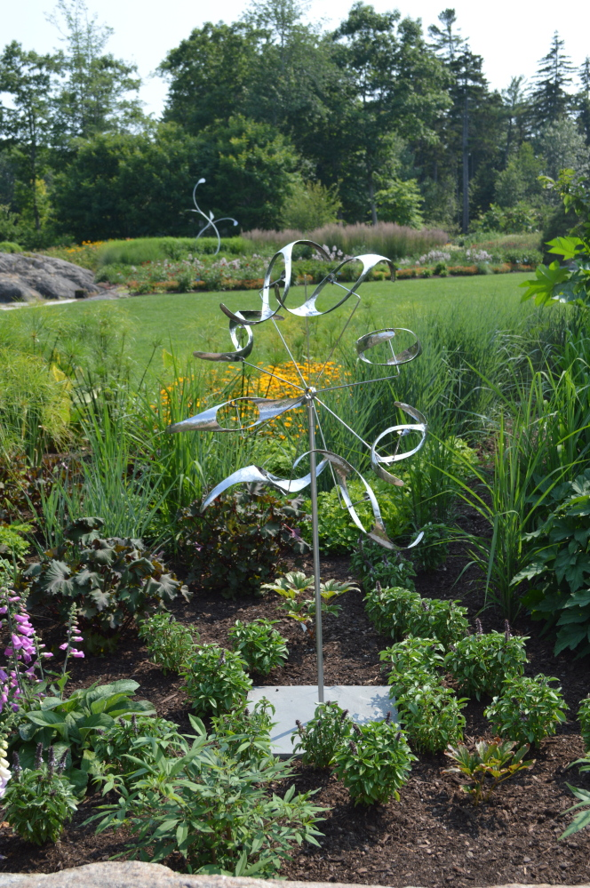 George Sherwood 39 S Kinetic Sculptures At Coastal Maine Botanical Gardens In Boothbay The