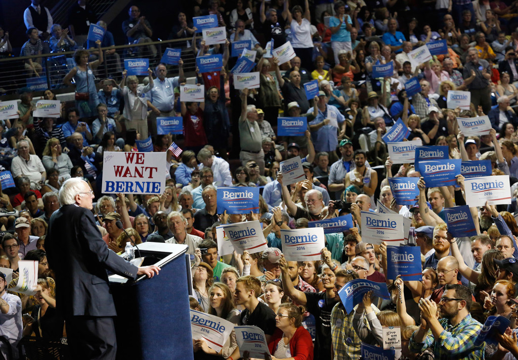 Sanders' appearance in Portland followed large rallies recently in Wisconsin, New Hampshire and other states.