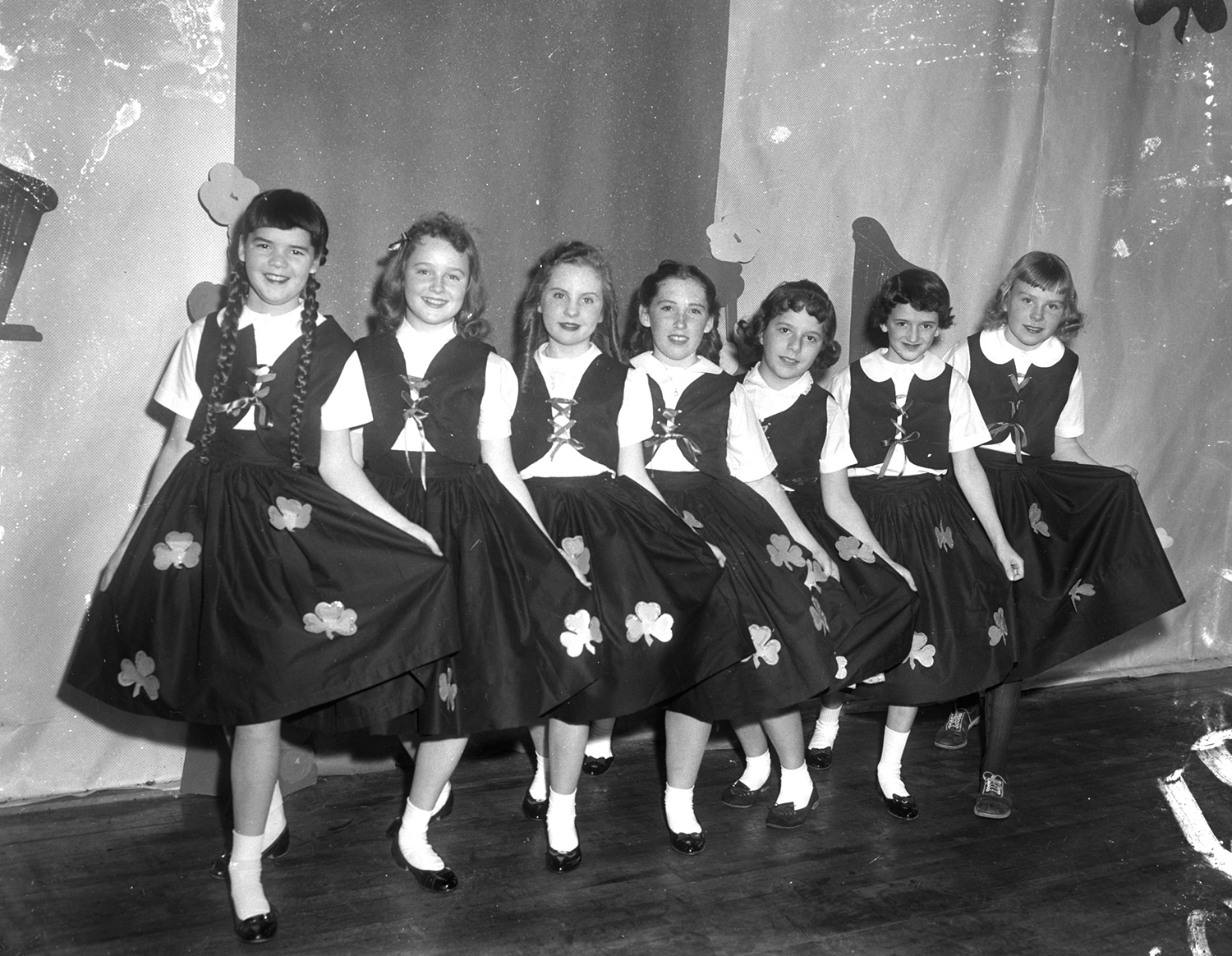 St Patrick's Day dancers, 1960. From the Portland Public Library archival collection of Portland Press Herald, Maine Sunday Telegram and Evening Express photos.