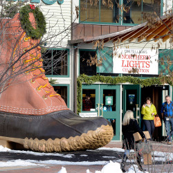 L.L. Bean's classic bean boot remains a big seller in a season when unusual warmth is holding down sales of cold-weather apparel. Press Herald file photo/John Patriquin