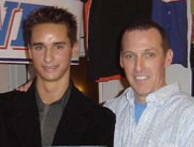 Sean Caisse, left, and his mentor, Andy Cusack, owner of Beech Ridge Motor Speedway in Scarborough, at a 2007 event. Caisse is charged with savagely beating Cusack in 2014.
