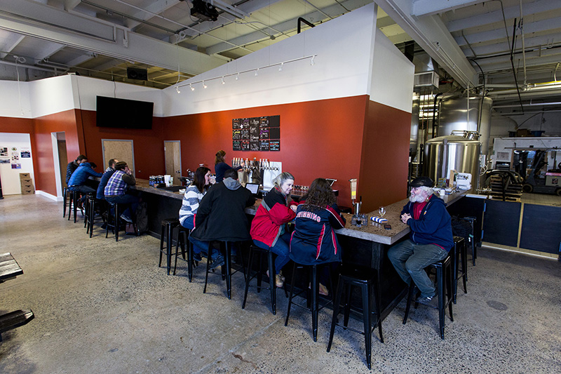 Rising Tide recently expanded its tasting room into a much larger space at its Fox Street location.