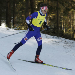 FARMINGTON, ME - FEBRUARY 19: Kaelyn Woods, of Gray-New Gloucester, skis in the Girls Class B Freestyle race Friday, Feb. 19, 2016 in Farmington, Maine. Woods finished in first place. (Photo by Joel Page/Staff Photographer)