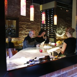 Brian Lazarus and Elizabeth Horton look over the menu at Emilitsa.
