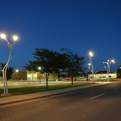 Aaron T Stephan created these light sculptures at Texas Tech University in Lubbock. The Portland Public Art Committee has asked Stephan to come up with something similar for a new plaza at Woodfords Corner.  Photo courtesy of Aaron T Stephan