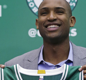 Veteran big man Al Horford was introduced Friday as the newest member of the Celtics, a week after he agreed to a four-year contract worth $113 million.