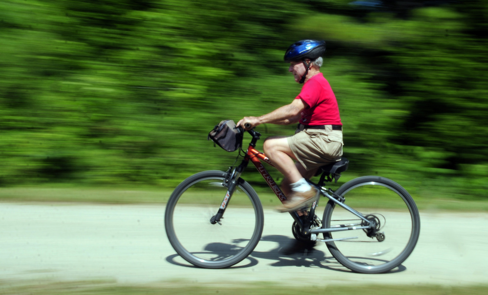 Readfield 39 s 92 year old cyclist has smiles to go the for Bike rides in maine