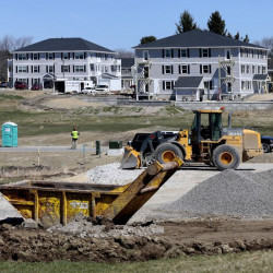 Apartments under construction at Blue Spruce Farm in Westbrook in April. Derek Davis/Staff Photographer