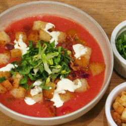 A good tomato soup should feel heavy, which lets you know it's ripe and juicy.