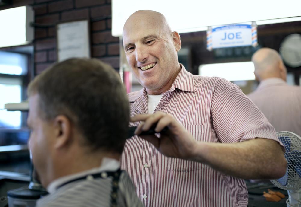 Barber Shop Portland Maine : Joe Souza at his day job at Mill Creek Barber Shop in South Portland ...