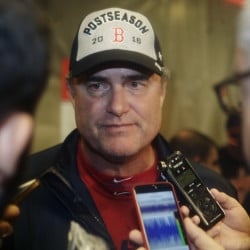 Boston Red Sox manager John Farrell talks to reporters after his team clinched the American League Eastern Division on Sept. 28, 2016, in New York. Frank Franklin II/Associated Press
