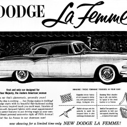 """The 1955 Dodge La Femme, dubbed """"the first and only car designed for Your Majesty, the modern American woman,"""" illustrates the evolution of the auto industry, which is now driven by women."""