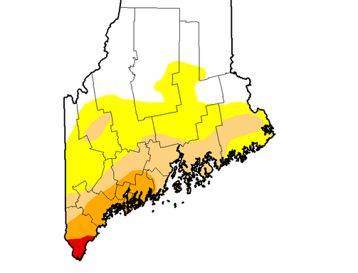 Maine Drought Map 091516  The Portland Press Herald