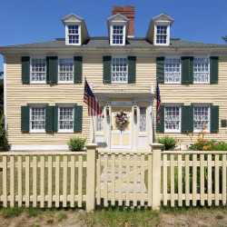 Built in 1782, the Hugh McCulloch house retains its original, Georgian features.