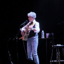 Joan Baez performs at Merrill Auditorium on Tuesday night.