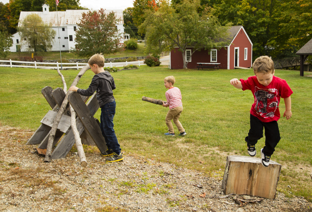 Outdoor Play Willowbrook  Nate Bickford, 8, his brothers Luke, 6, and Max, 3,