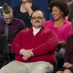 Kenneth Bone, center, a questioner at the second presidential debate, expressed qualms about Hillary Clinton's energy policy, but does he really think Donald Trump can keep his promise to protect miners' jobs?