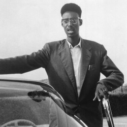A descendant of the Tutsi dynasty that ruled Rwanda for centuries, Kigeli V Ndahindurwa, shown in 1959, served as king from 1959 to 1961.