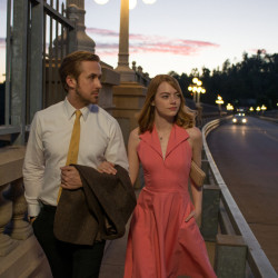 "Ryan Gosling as Sebastian and Emma Stone as Mia in a scene from the movie ""La La Land,"" directed by Damien Chazelle."