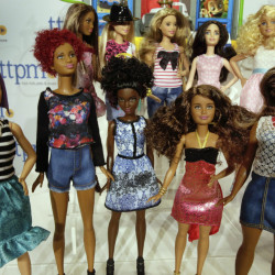"Mattel's Barbie Fashionistas line includes dolls with a range of skin tones, eye colors and facial structures, and this year the toy company added more body types. Lego's ""Fun in the Park"" playset includes a mini-figure in a wheelchair, below."