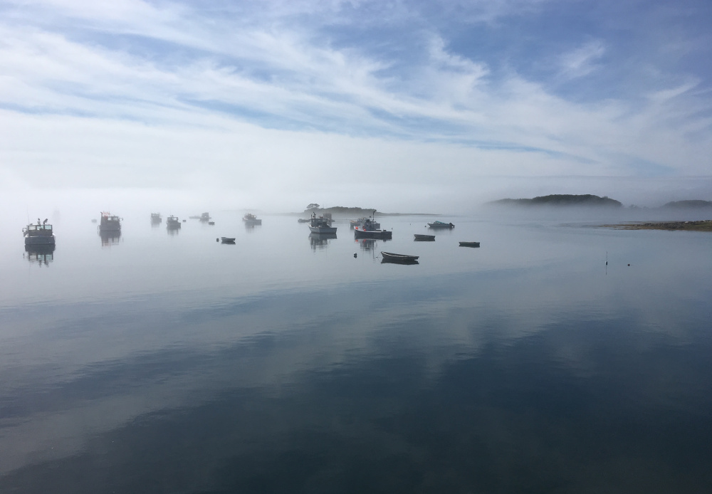 A recent foggy morning at Cape Porpoise in Kennebunkport provided an almost mythical scene, one Francis J. Kleeman of Kennebunk was eager to share.