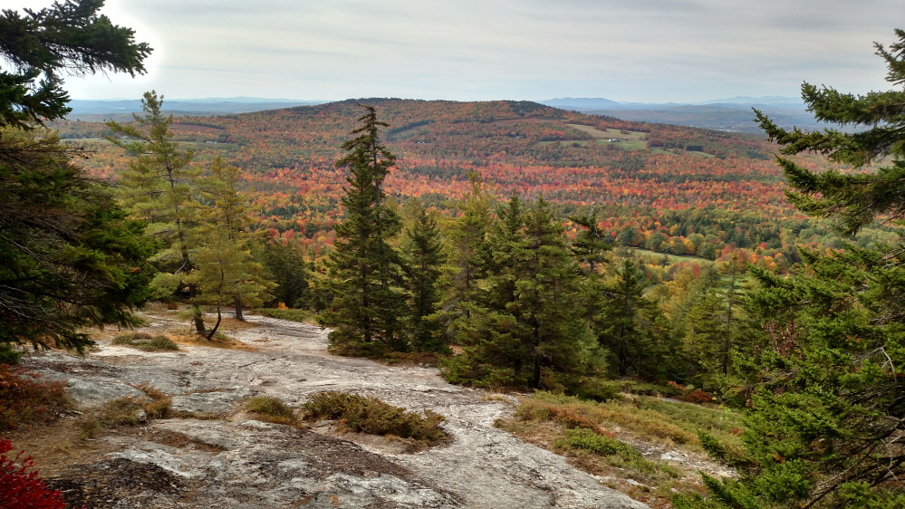 Streaked Mountain, near South Paris, offered fine foliage earlier this month, and Amy Burgess of Bridgton was there to capture it.