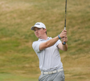 Michael Caron of Gorham, a senior for St. Joseph's College, finished tied for second at the Great Northeast Athletic Conference golf tournament while leading the Monks to their first team championship.