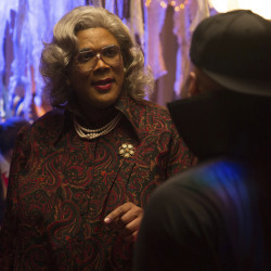 "In this image released by Lionsgate, Tyler Perry portrays Madea in a scene from ""Boo! A Madea Halloween."""
