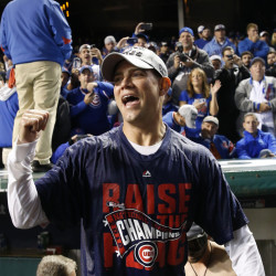 It's the celebrations that make it all worth it, and Theo Epstein, the Chicago Cubs' president for baseball operations, already has been champagne-drenched more than once this postseason.