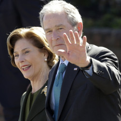 Former President George W. Bush and first lady Laura Bush celebrated their birthdays Saturday.