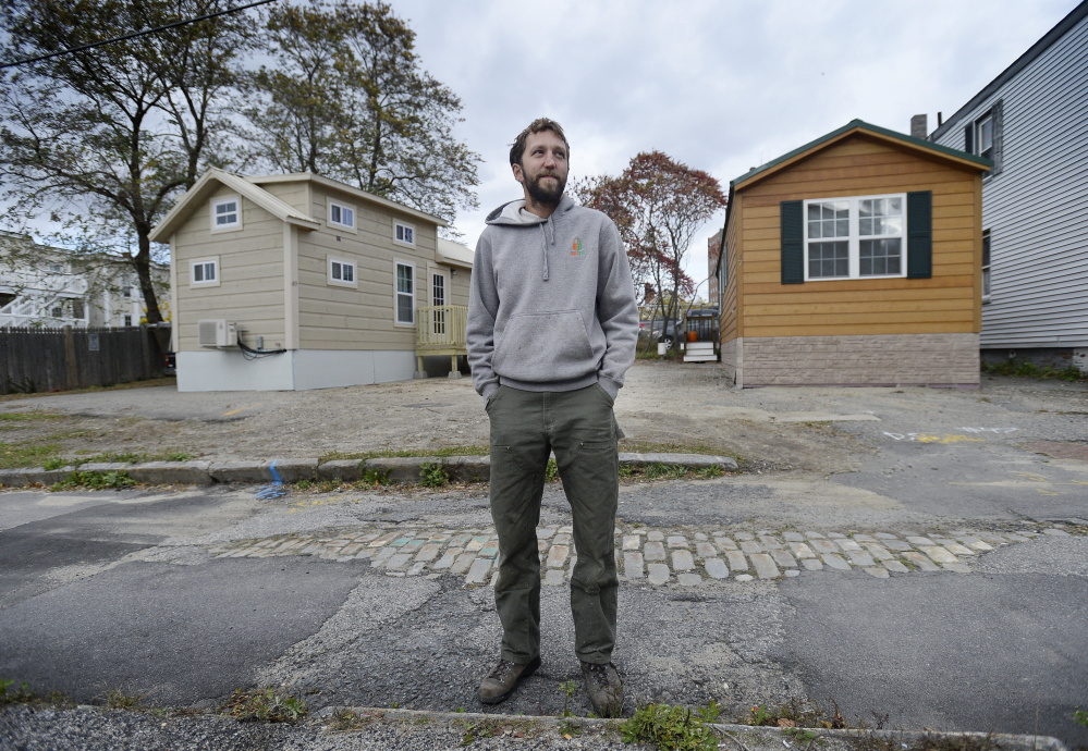 """Brent Adler, who owns residential buildings around Portland, contends tiny homes are allowed because they are essentially recreational vehicles, but the city says he's violating the land use code. """"I don't know what we're going to do,"""" he said."""