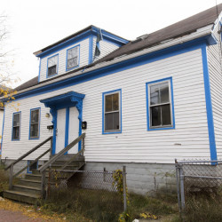 PORTLAND, ME - OCTOBER 26: The two-family home at 30 Merrill Street is going to be knocked down and replaced with hyper efficient 7 unit condos. (Photo by Brianna Soukup/Staff Photographer)