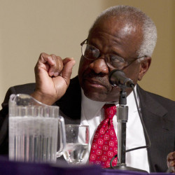 "Supreme Court Justice Clarence Thomas says a claim that he groped a young woman at a Washington dinner party in 1999 ""is preposterous."""
