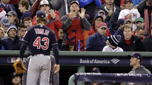 Cleveland's Josh Tomlin struggled in August while his father dealt with a serious medical condition, but the pitcher has come back to help the Indians advance to the World Series, including pitching five solid innings in Cleveland's clinching win in the AL division series against Boston.