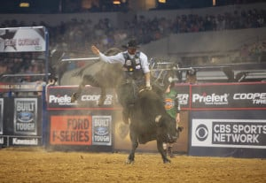 Cody Ford, who has been bull riding since he was 10, is coming to Portland's Cross Insurance Arena Friday and Saturday as part of the Professional Bull Riders Tour. Photo by Andy Watson/Bull Stock Media