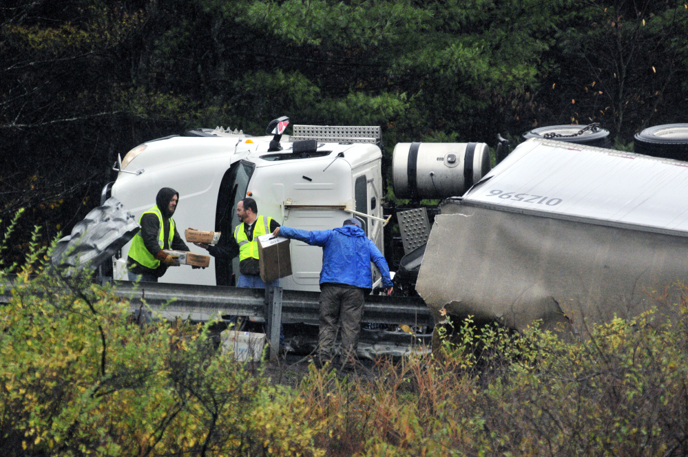 Gallery I 95 Rollover The Portland Press Herald Maine