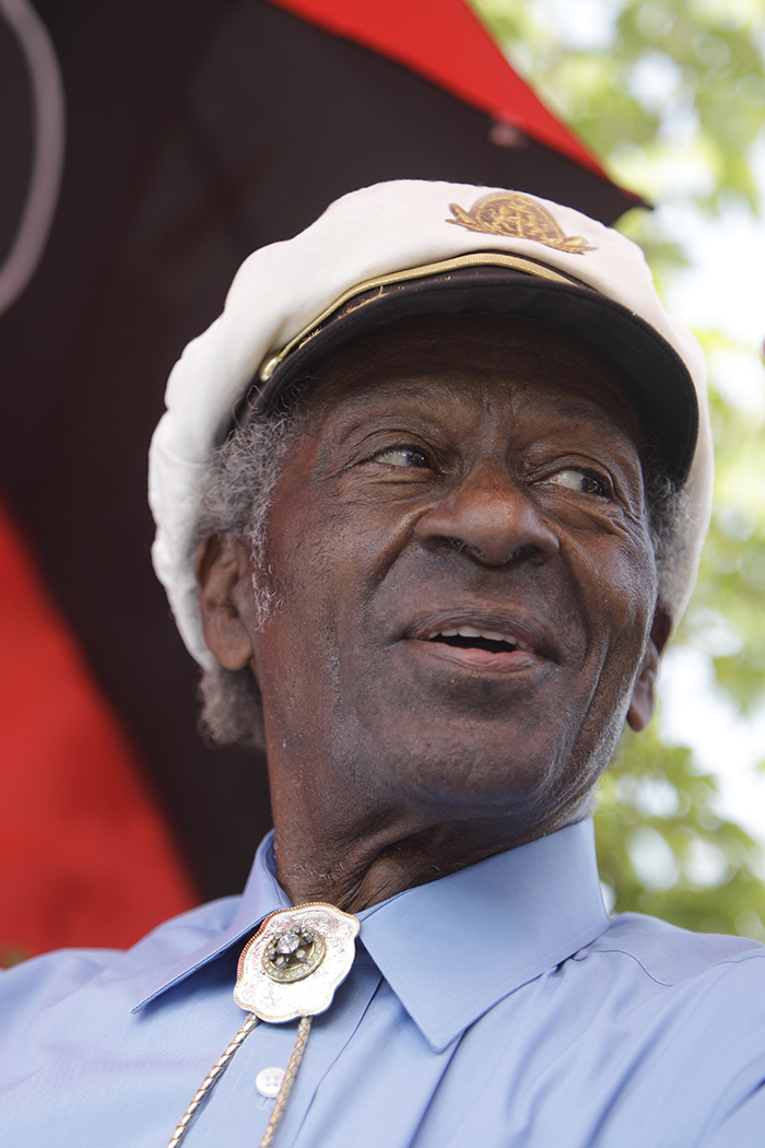 Chuck Berry attends the dedication of a statue in his honor in University City, Mo., in 2011. 2011, in University City, Mo. Associated Press/Jeff Roberson