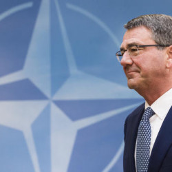 U.S. Secretary of Defense Ash Carter arrives for a meeting of the North Atlantic Council Defense Ministers session at NATO headquarters in Brussels, Wednesday, Associated Press/Geert Vanden Wijngaert