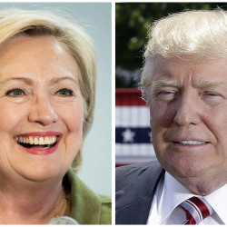 Democratic presidential candidate Hillary Clinton and Republican presidential candidate Donald Trump. Associated Press
