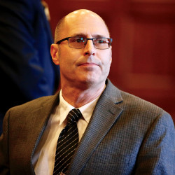 Landlord Gregory Nisbet awaits the verdict in his manslaughter trial.