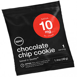 This single-serve soft cookie is among a variety of edibles marketed by Spot. The cookie contains 10mg THC, the compound that makes marijuana psychoactive.  Product photo from Spot website
