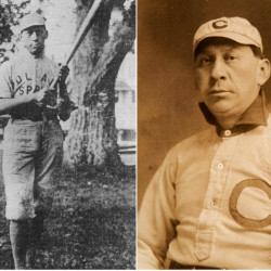 Louis Sockalexis, a native of the Penobscots' Indian Island reservation, was the first recognized Native American to play major league baseball when he joined the Cleveland team in 1897.