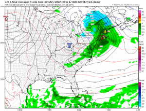 A strong storm will bring a soaking rain to southern and central Maine Thursday night and part of Friday