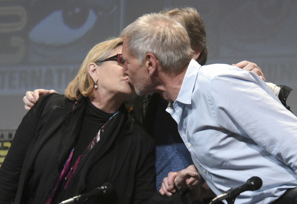 Carrie Fisher defends Harrison Ford's performance in the sack