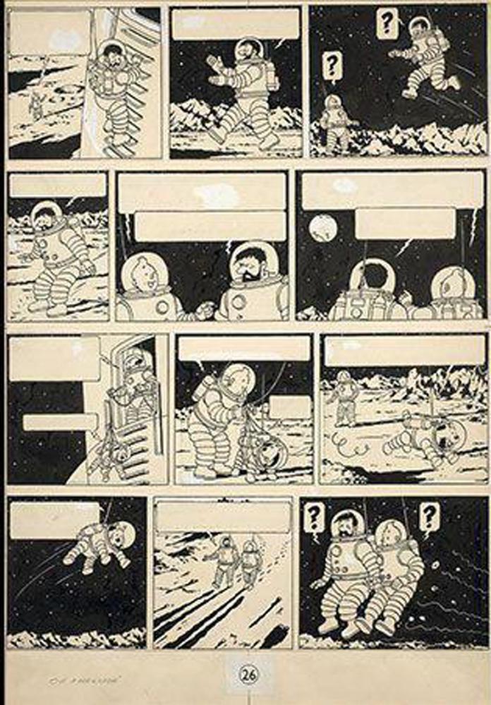 Tintin Comics French Tintin comic-book draw...